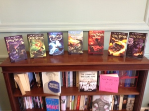 A display of Harry Potter books at Bloomsbury Publishing