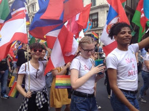 Flagbearers at the London Pride Parade
