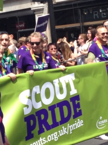 Scouts at the London Pride Parade