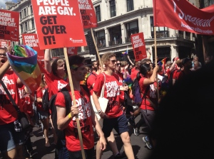 Stonewall group at the London Pride Parade